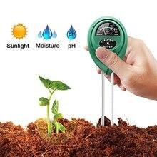 3 в 1 почвенный водонепроницаемый измеритель PH тестер цифровой анализатор тестовый детектор для садовое растение, цветок гидропонный садовый инструмент