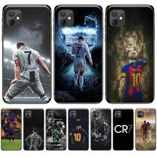 Ronaldo Sepak Bola Superstar Lionel Messi Kustom Lembut Ponsel Case untuk Iphone 5 5s 5c Se 6 6S 7 7 Plus X Xs Xr 11 Pro Max(China)