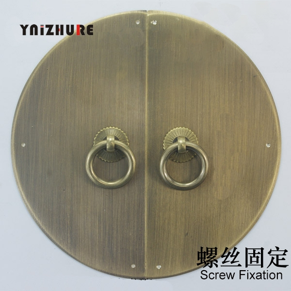 160mm Chinese Antique Copper Door Handle Cabinet Classic Round Wardrobe Handle Antique Bookcases Rings Handle|Cabinet Pulls| |  - title=
