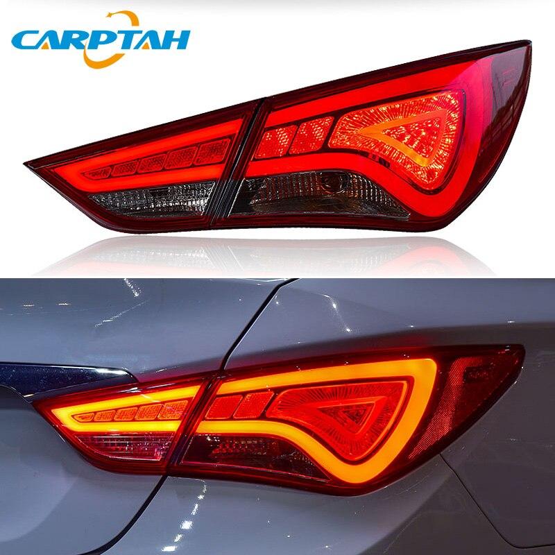 Feu arrière style voiture feux arrière pour Hyundai Sonata 8 YF 2011-2014 feu arrière DRL + clignotant + marche arrière + lumière LED de frein