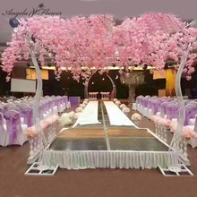 2.6M Wedding Arch Props Road Cited Artificial Cherry Tree Flower Stand Iron Arch Frame Decor Wedding Backdrop Party Stage Hotel