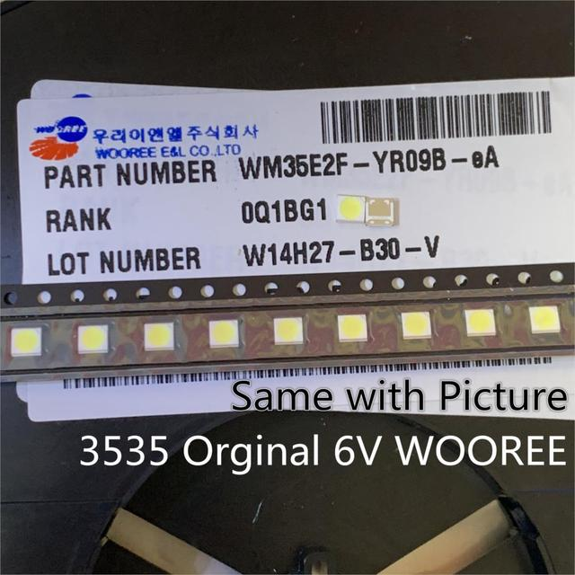 1000PcsสำหรับWOOREE LED LED 2W 6V 3535 150LM CoolสีขาวLCD BacklightสำหรับทีวีWM35E2F YR09B eAแอ็พพลิเคชันทีวี