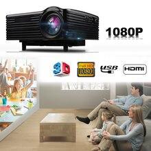 Mini projetor 3d recarregável de led, vídeo 3d, full hd, portátil, wi-fi, beamer, para cinema em casa inteligente 1080p new2020
