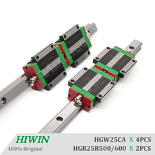HIWIN HGW25 Guides 500 600mm Linear Guide Rail CNC Router Parts HGR25 Linear Guideways for CNC Machine Center z axis Parts cnc hiwin hgr35 700mm rail linear guide from taiwan