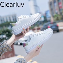 Womens shoes fashion casual vulcanized with rhinestones thick white breathable PU baskets femme sneakers size 35-40