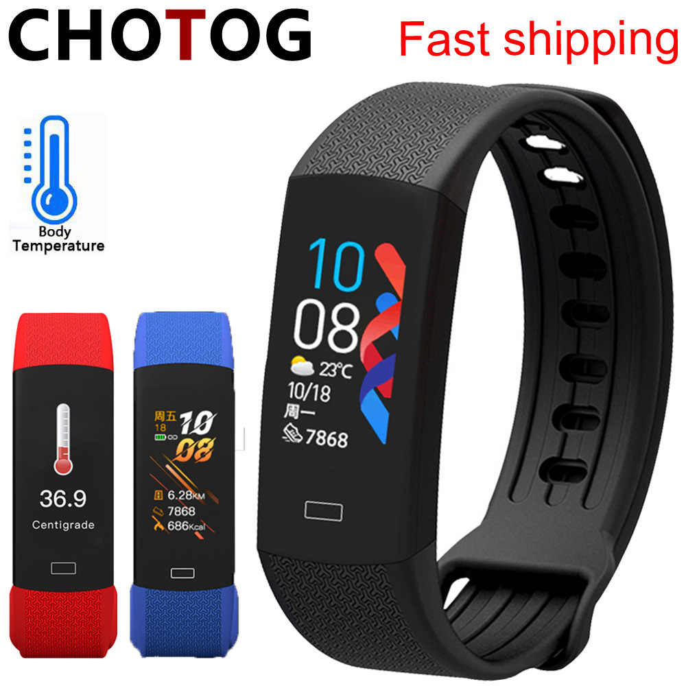 Braccialetto fitness intelligente orologio temperatura corporea attività Fitness Tracker Ip67 impermeabile smart Band Watch pressione sanguigna per lo Sport