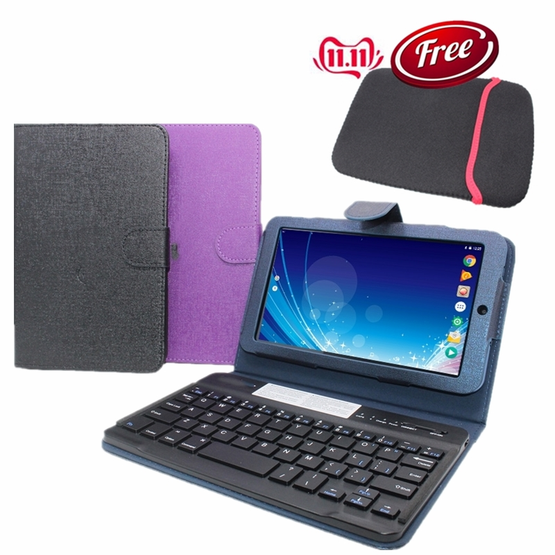 SALES !! G10  7 Inch Android 4.4 1GB+8GB  With Original Bluetooth Keyboard Case 1024 X 600 IPS Screen