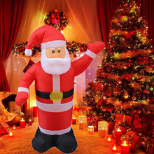цена на Lovely Inflatable Santa Claus Snow Man Decoration Home Xmas Decorations Indoors Outdoors Garden Lawn Christmas Party Decor