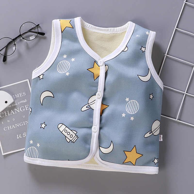 2019 תינוק חדש חם עבה אפוד חמוד 1-6y ילדי Cartoon בגדי קטיפה כותנה אפוד תינוק ילד ילדה החורף עבה להאריך ימים יותר מעיל