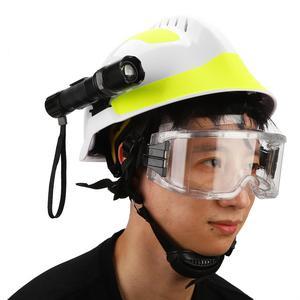 Image 3 - Capacetes de segurança de resgate de emergência anti impacto bombeiro capacete de proteção com farol e óculos de proteção