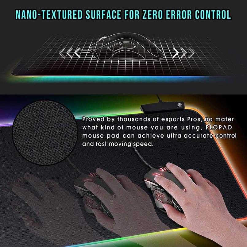 RGB коврик для мыши, игровой коврик для мыши, большой компьютерный коврик для мыши с подсветкой XXL, коврики для мыши со светодиодный подсветкой, коврик для геймеров 900x400, Настольный коврик для CS-2