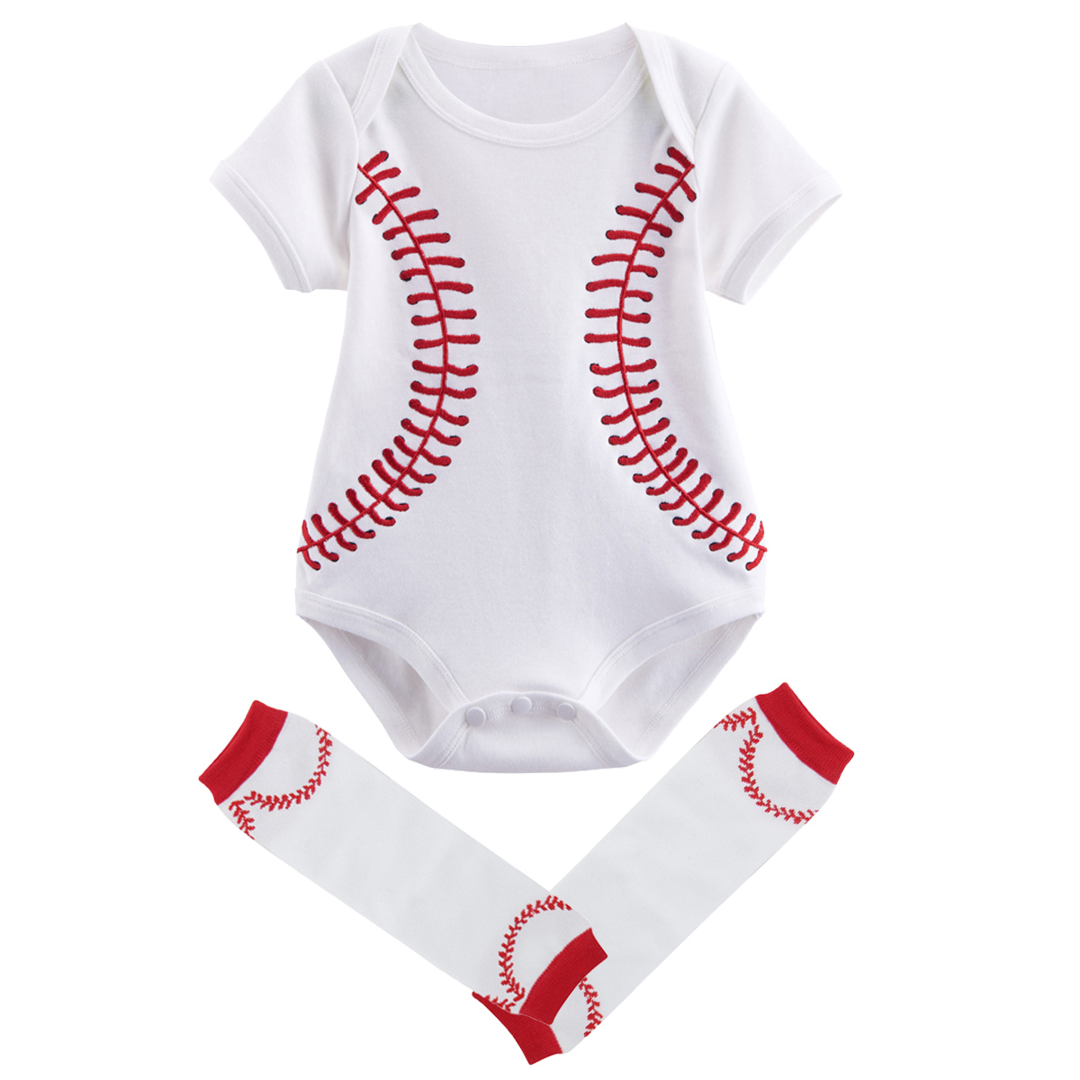 Newborn Boy Cosplay Costume Baseball Bodysuit Outfits Baby Halloween Costumes for Baby Summer Shorts Sleeve Clothes