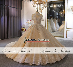 Image 5 - Luxury full heavy beading bridal wedding dress custom order with long train dubai weddings