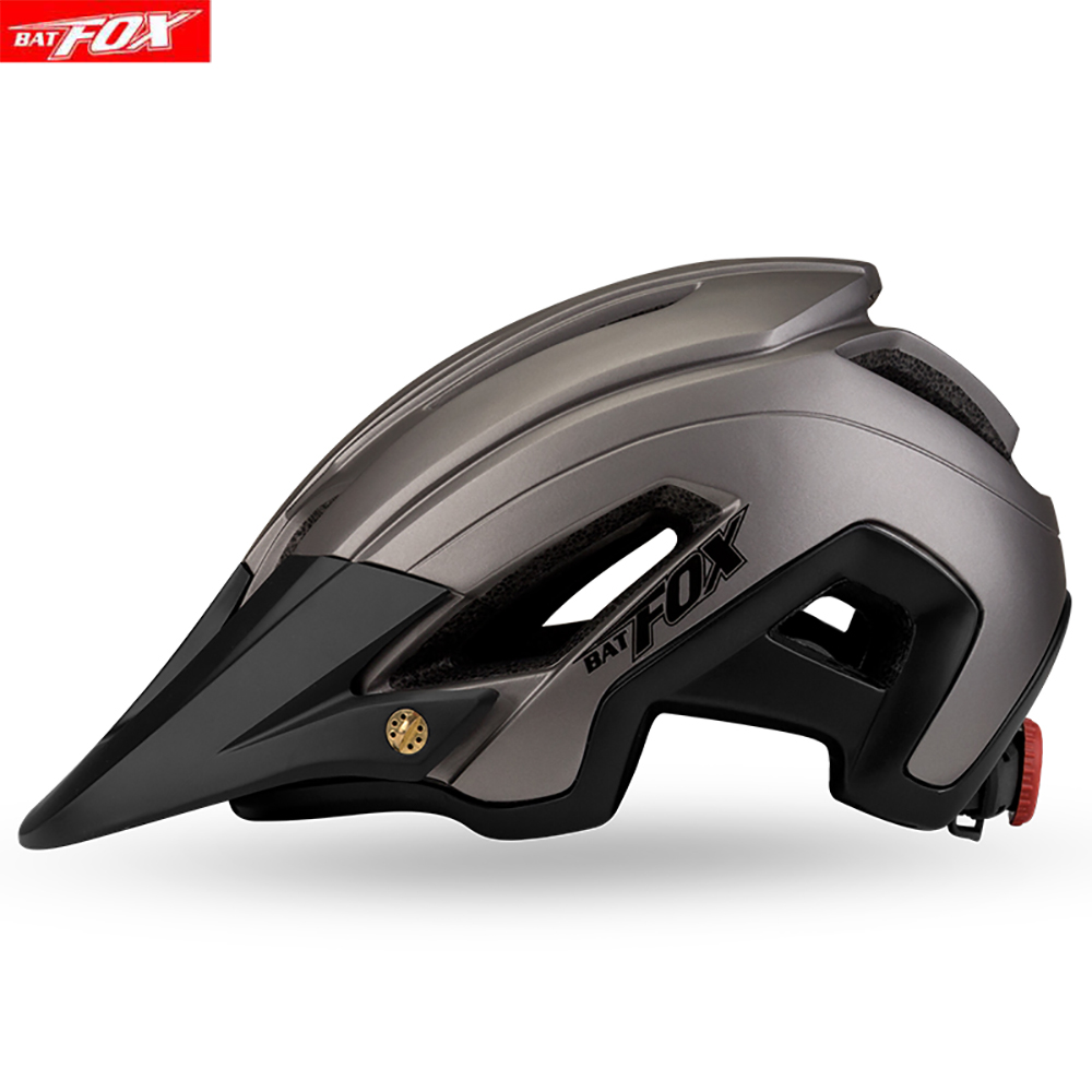 BATFOX Bicycle Cycling Helmet Ultralight MTB Road Bike Helmet Men Women Mountain bicycle helmet with visor cascos bicicleta Bicycle Helmet     - title=