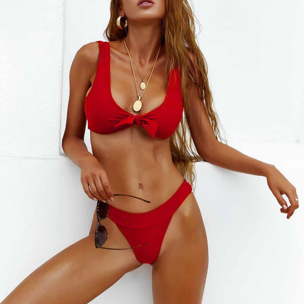 & 35 סקסי ביקיני מיקרו נשים סקסי מוצק ביקיני סט Push-Up מרופד בגדי ים בגד ים רחצה וחוף ביקיני Mujer בגדי ים נשים