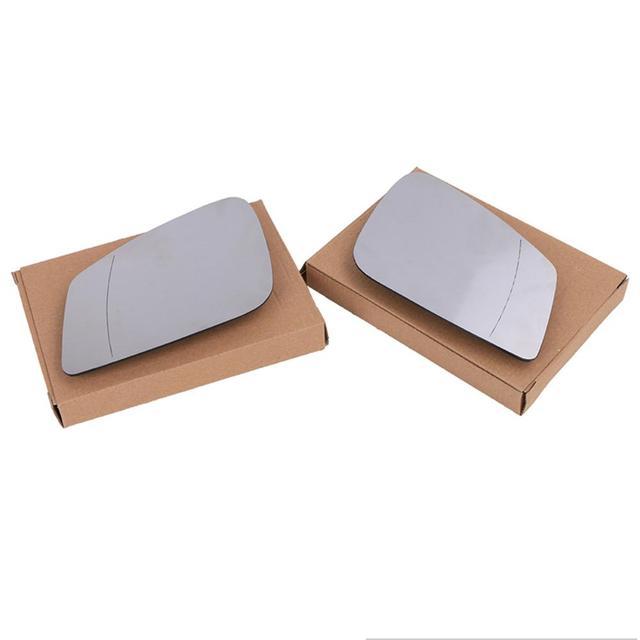 Cristal de espejo blanco derecho/izquierdo para puerta de ala calefactable lateral de Vista trasera, para 5 7 Series F01 F07 F10 F11 F18