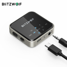 BlitzWolf BW-BL3 2 In 1 bluetooth 5.0 Audio Transmitter Receiver Adapter Wireless 3.5mm Aux Audio Adapter For TV PC Speaker Home