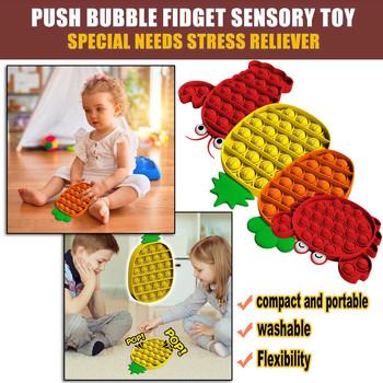 4pc Push Bubble zabawka sensoryczna krab zwierzęcy Push Bubble Fidget zabawka sensoryczna autyzm specjalne potrzeby Stress Reliever zabawka sensoryczna tanie i dobre opinie CN (pochodzenie) Squeeze Toys Chiny certyfikat (3C) 8 ~ 13 Lat 14 lat i więcej 2-4 lat 5-7 lat Dorośli Zwierzęta i Natura
