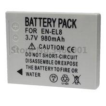 Batterie de caméra EN EL8 ENEL8 pour Nikon COOLPIX S1 S2 S3 S4 S5 S6 S7 S7C S8 S9 S51 S50 S52 P1 P2 L1 L2 EN-EL8, MH-62