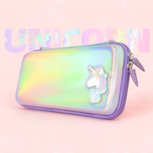 Unicorn Rainbow Laser Reflection Storage Bag For Nintend Switch Portable Case Hard Cover Shell Case Box For Switch Accessories