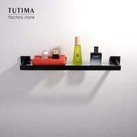 Tutima SUS 304 Stainless Steel Black Towel Shelves Kitchen Wall Shelf Shower Storage Rack Bathroom Accessories