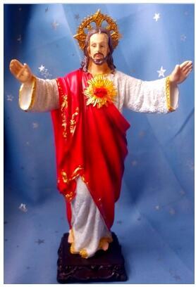 Креативное декоративное искусство ремесла красочные ремесла с манелли статуя католического Иисуса благословение христианское украшение