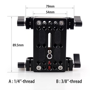 Image 2 - Kamera Montage Platte Stativ Einbeinstativ Montage Platte mit 15mm Rod Schellen Railblock Für Stange Unterstützung Schiene DSLR Kamera Rig