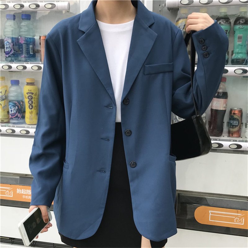 HziriP Retro Loose Chic England Style 2019 Fashion Brief Women High Quality All Match Office Lady Casual Women Elegant Blazers