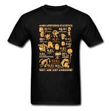 Camiseta con póster de estadísticas de depredador alienígena, Retro, Vintage, Faddish, estampado divertido de los años 90, ropa nueva, camisetas de regalo, camisetas ajustadas, Fitness para hombres
