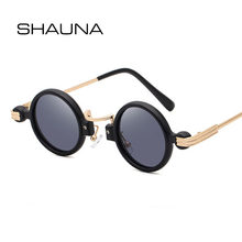 Женские и мужские маленькие круглые очки shauna Винтажные Солнцезащитные