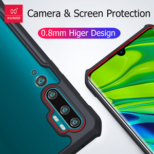 Image 2 - Xundd Shockproof Case For Xiaomi Mi Note 10 Pro Case Xundd Bumper Airbag Protective Transparent Cover For Mi Note 10 Lite Case
