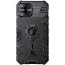Dla iPhone 12 Pro Max Case NILLKIN CamShield Armor slajd Camera chroń prywatność pierścień kickstand twarda tylna pokrywa dla iPhone 12 Pro