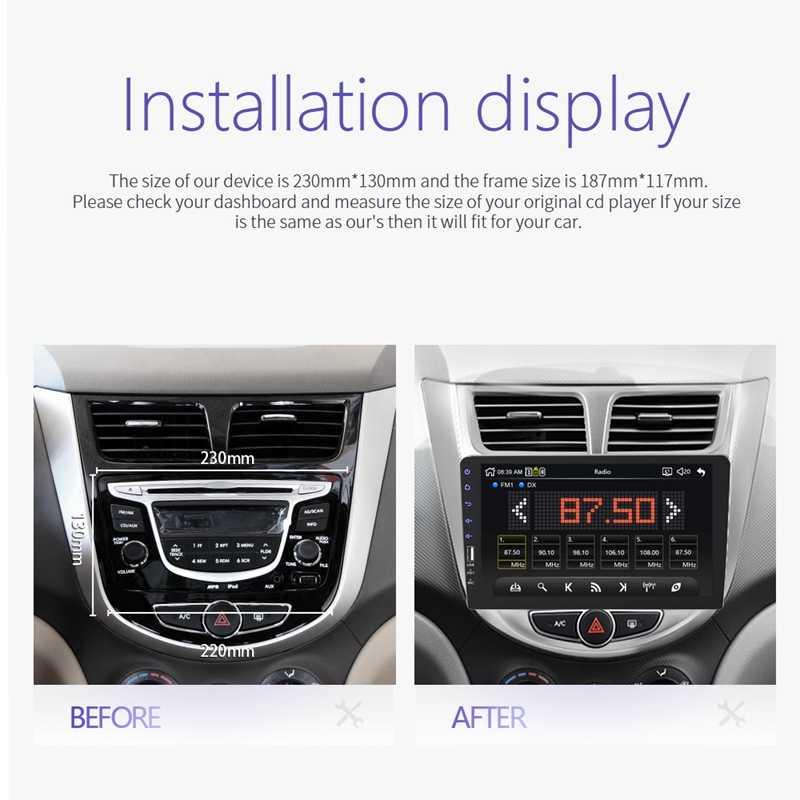 2 Din 9 pulgadas Universal Radio de coche doble Din estéreo Multimedia en el salpicadero Video Usb Bluetooth Radio de coche reproductor Multimedia con Camer
