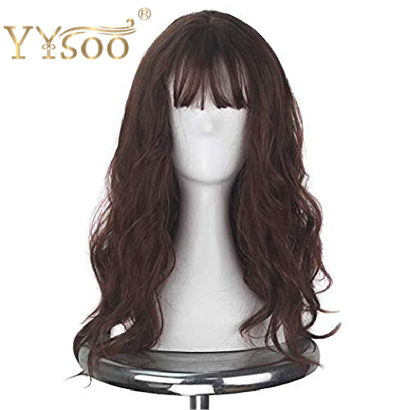 yysoo longo marrom onda solta peruca cosplay 04