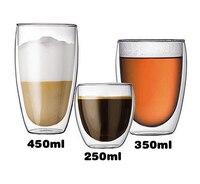 Non ha paura di caldo o freddo doppio vetro trasparente tazza isolata tè bevanda caffè latte tazza di vino non caldo sicuro creativo hotsale