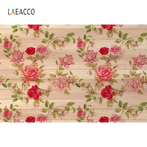 Image 4 - Laeacco Wooden Board Flowers Photography Backdrops Children Portrait Newborn Backgrounds Baby Shower Photocall For Photo Studio
