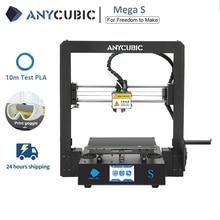 Anycubic 3D Stampante Mega S 3d Kit di stampa Più Il Formato MegaS Full Metal Touch Screen 3d Stampante Mega S 3D Drucker Impresora 3d