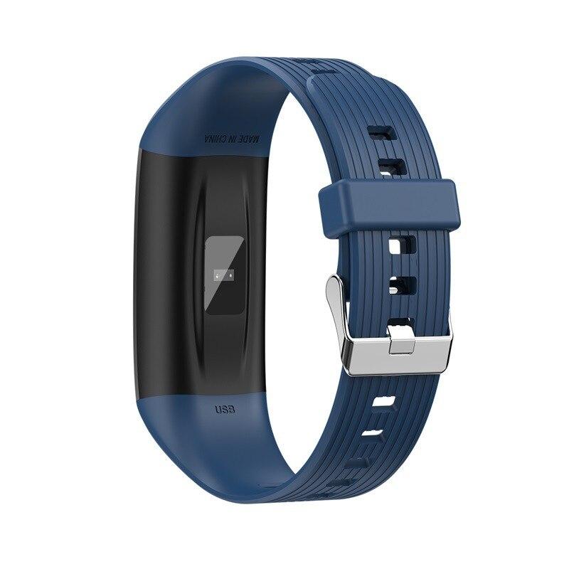 H48813b82e48849c5a37f63cec620bb2em R12 Smart Band Bracelet Fitness Bracelet with Pressure Measurement Health Wristband Pedometer Heart Rate Monitor Cardio Bracelet