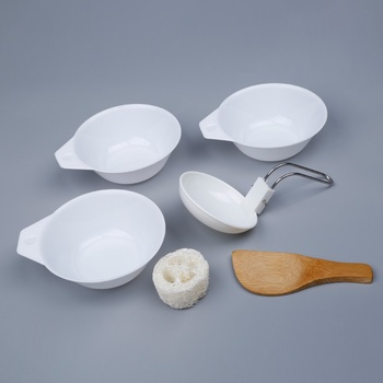 6pcs/set Outdoor Camping Cookware Tableware Backpacking Picnic Bowl Spoon Kits Portable Sets