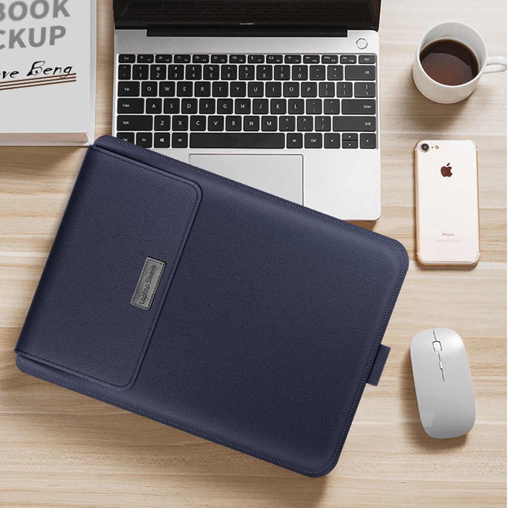 حقيبة بأكمام للكمبيوتر المحمول لهاتف هواوي Matebook D 14 D 15 13 14 X Pro 2020 حافظة من جلد البولي يوريثان بطانة أكمام لهاتف Honor MagicBook 14 15