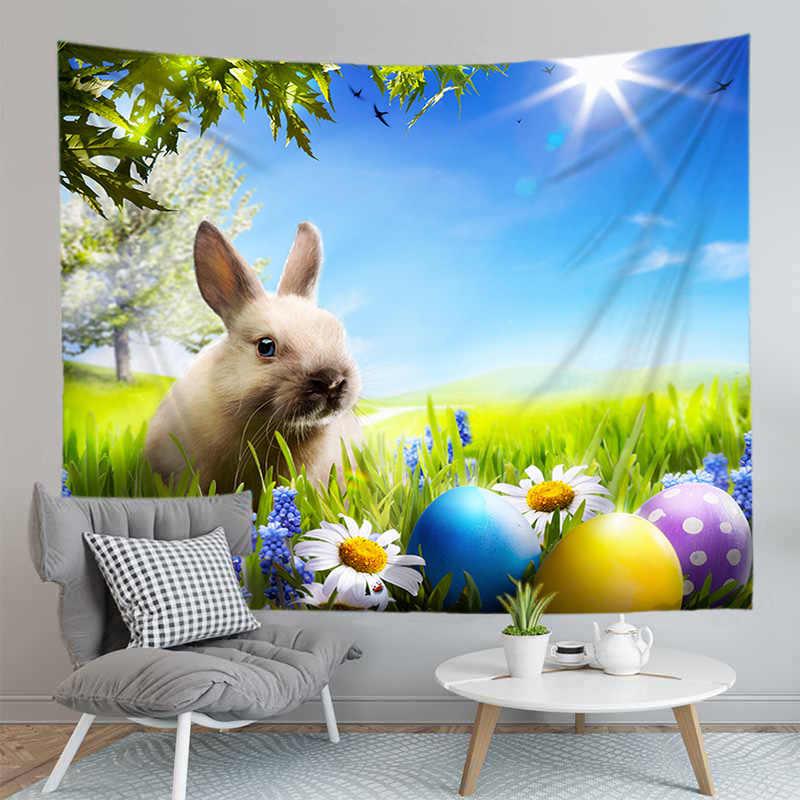 Nuovo 3D Coniglio Stampato Coperta per la Pasqua di Arte Della Parete Appeso Arazzo Sfondo di Panno Copriletto Complementi Arredo Casa