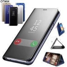 Funda trasera de teléfono con Tapa de cuero con espejo inteligente para Samsung Galaxy A20e para Samsung A20e a 20e A202F A202 SM-A202F