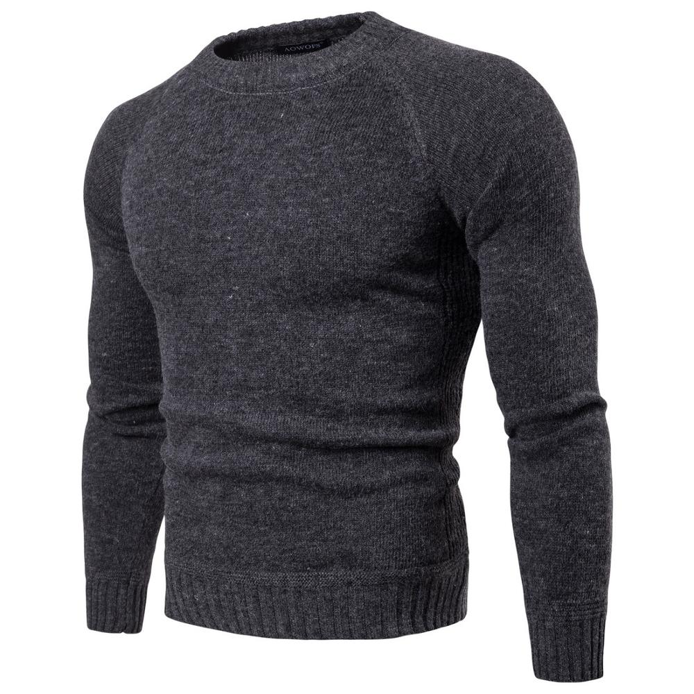 2019 New Man Knitwear Autumn Winter  Men Sweaters Pullovers Knitting Wool Warm Slim Fit Casual Knitted