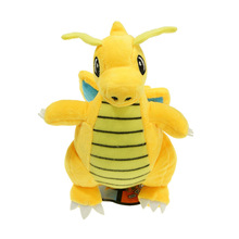 hot sale yellow Dragonite 12 30cm Plush Doll Soft Anime Cartoon For Kids Gifts