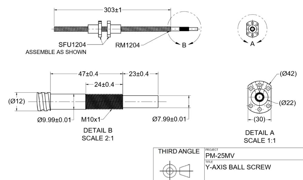 balls crews machined as drawings PM-25MV cnc conversion kit precision matthews