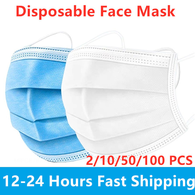 12-24 hours Shipping Disposable Protective Anti Flu Dust Pollution Mask Face Allergy Particulate Face Filter Air Purification