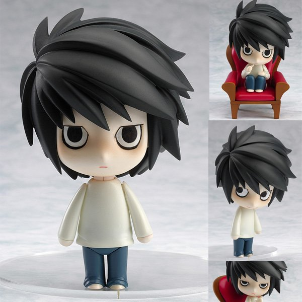 10CM Anime Death Note L 17# Q Version Face Changing Movable PVC Action Figure Collectible Model Doll Toys Brinquedos Baby Gift