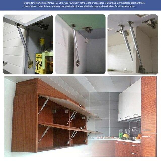 Presión 20N-300N muebles bisagra cocina gabinete puerta elevador neumático soporte hidráulico Gas resorte mantener herramientas para el hogar