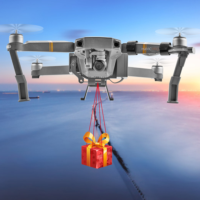 Système de chute dair pour DJI Mavic Pro Platinum Drone lanceur à distance cadeau livrer des Kits dexpéditeur danneau dappât de pêche économiseur de vie