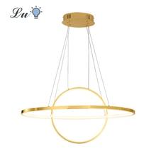 LED Chrome/Gold Plated Pendant Lighting 90-260V Indoor Lighting Hanging Lamp Bedroom Living Room Restaurant Luster Pendant Lamps